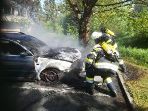 Fahrzeugbrand in Dörfla