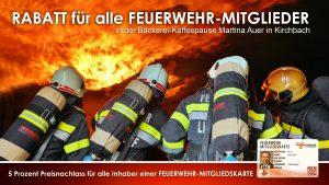 Kaffeepause Martina Auer Rabatt für Feuerwehrmitglieder