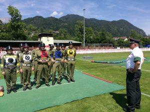 Die Wettkampfgruppe in Berchtesgaden