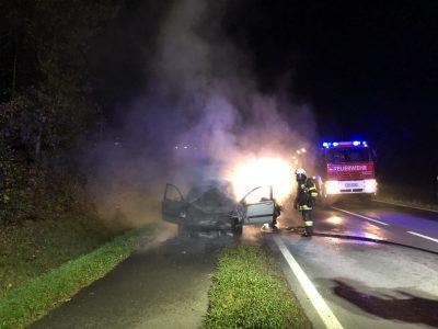 Fahrzeugbrand auf der B73