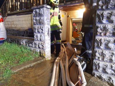 Unwettereinsatz – Keller überflutet