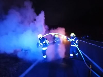 Fahrzeugbrand am Zerlachberg